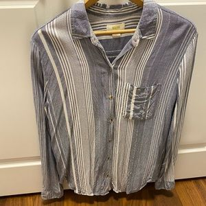 Anthropologie collared blouse   Sz M